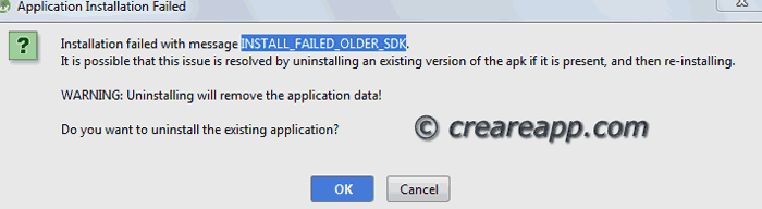 errore android studio SDK obsoleto